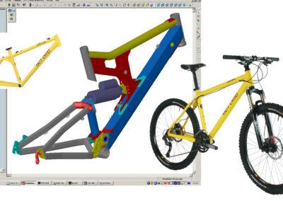 Fahrradrahmen mit SolidWorks