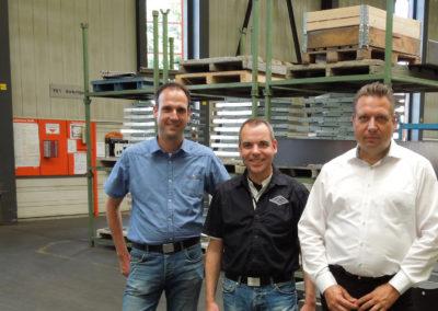Arbeiten an der zukunftsweisenden Gesamtlösung mit 21 SPI Lizenzen: (v. l.) René Schwenger (Konstruktionsleiter), Bernd Flatzek (Projektleiter), Mathias Schöwe (KeyAccount Manager, SPI).