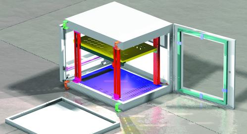 Gehäuse in der CAD-Ansicht