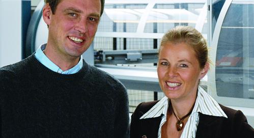 Die Kaufmännische Geschäftsführerin Corina Flashar der Technische Geschäftsführer Burkhard Heß.