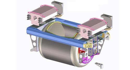 Kübelbahn WKB-3750-B in der CAD Ansicht