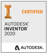 Logo Autodesk Inventor 2020 Certified