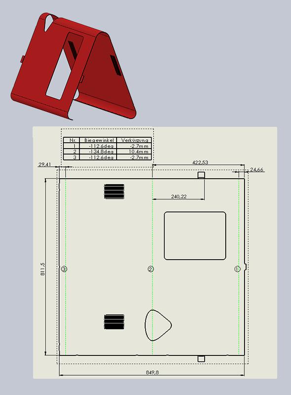 Kunst am Bau: Stahlbaum und Solidworks Baugruppe (Montage)
