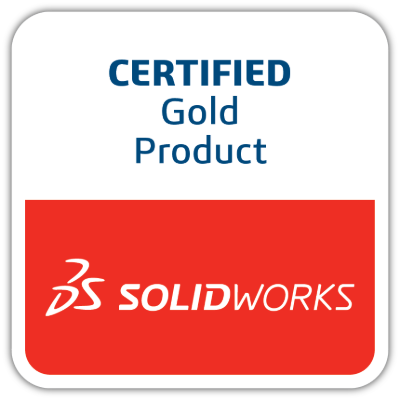 Certified Gold Product Solidworks Logo