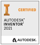 Autodesk Inventor 2021 Certified badge