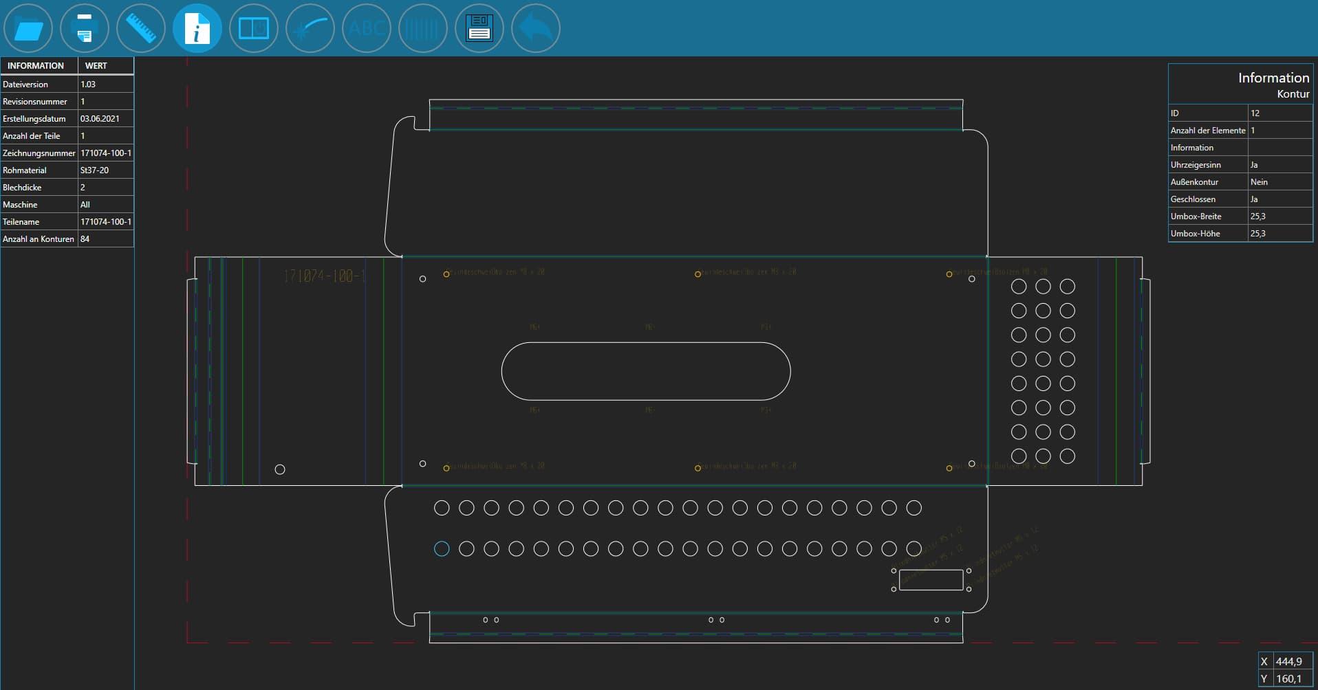 SPI CAD Viewer - dunkle Oberfläche