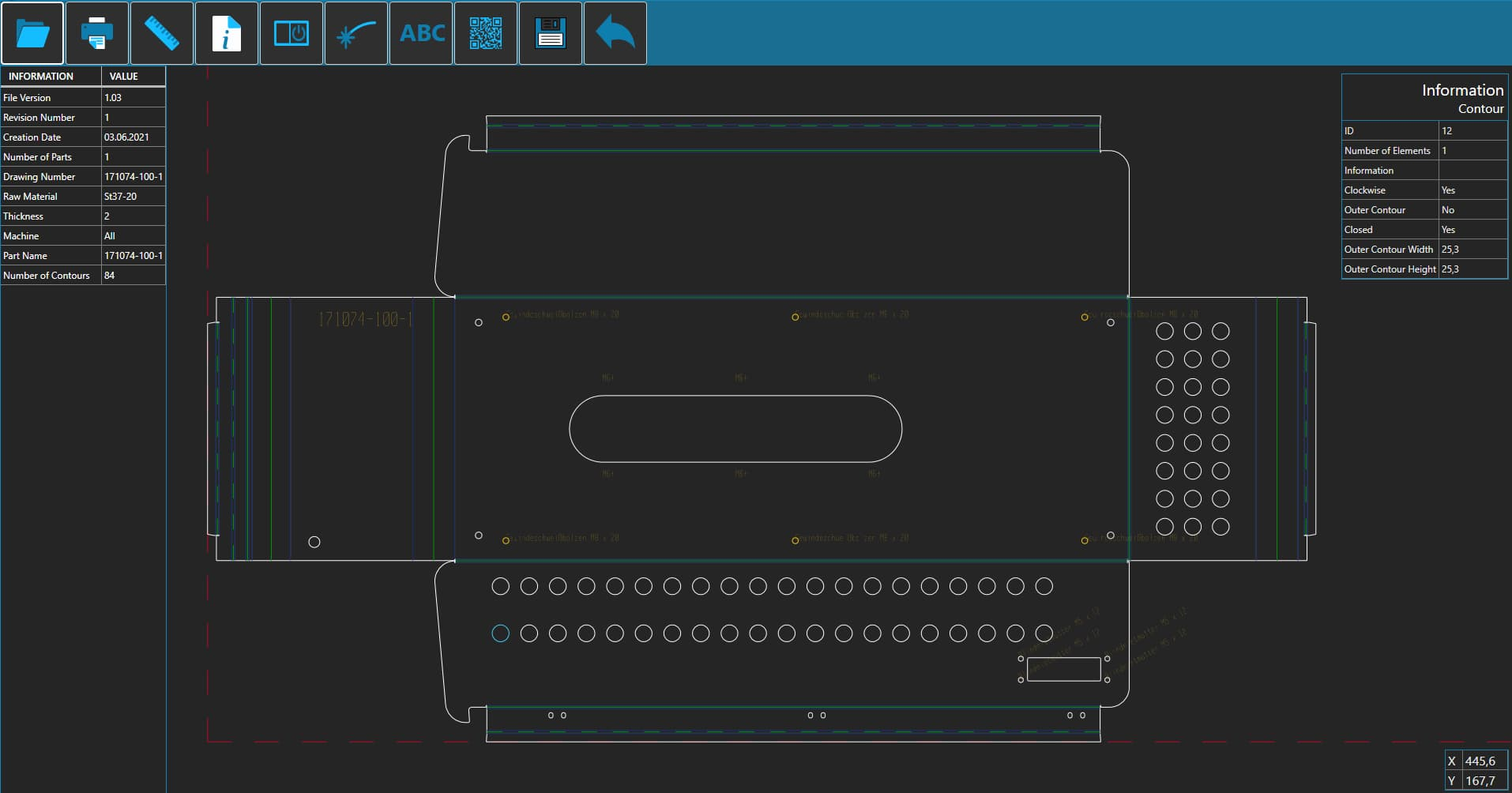 SPI CAD Viewer - dark theme preview